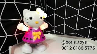 Dancing Hello Kitty mainan edukatif robot joget lucu anak