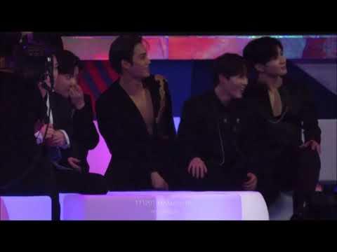 171201 MAMA in HK - Kai, Sungwoon, Taemin, Baekhyun React to BTS' Mic Drop