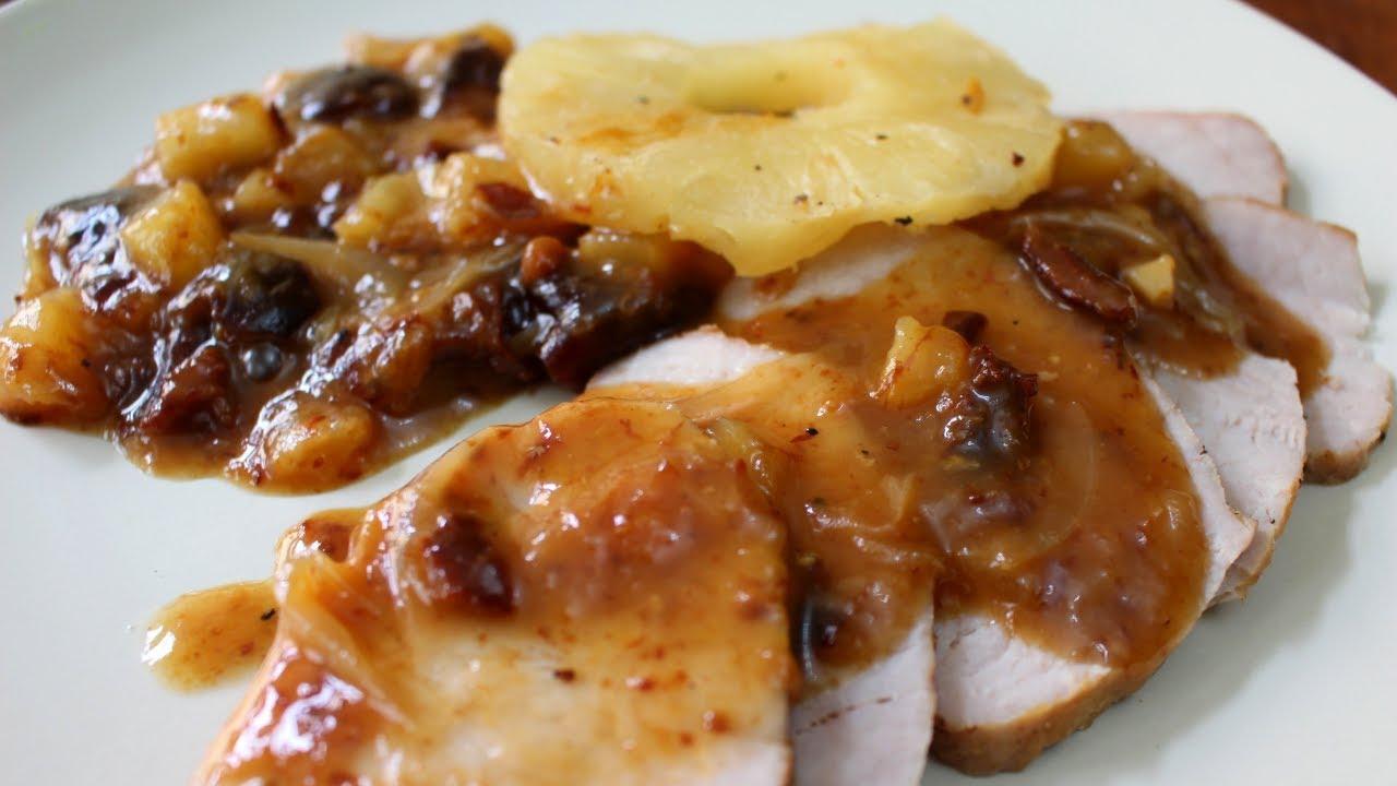 Lomo De Cerdo En Salsa De Piña Y Ciruela Sin Horno Youtube Cerdo En Salsa Recetas De Comida Fáciles Lomo De Cerdo