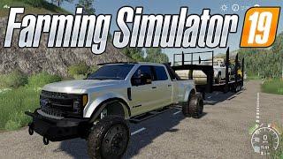 Farming simulator 19 - Ford F450 Platinum Hauling + Towing