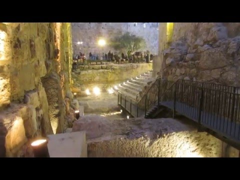 The pool of Herod's palace in Jerusalem was found - you can visit it. Tower of David Museum, Israel