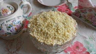 Салат Мимоза с сайрой, классический рецепт