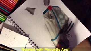 Dapple Gray Horse- Drawing Timelapse