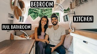 VAN TOUR | Sprinter Van Converted to Tiny Home for Full-Time Van Life