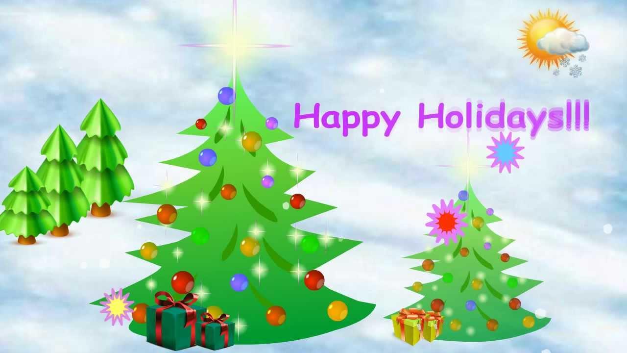 Happy holidays animated screensaver promo youtube happy holidays animated screensaver promo m4hsunfo