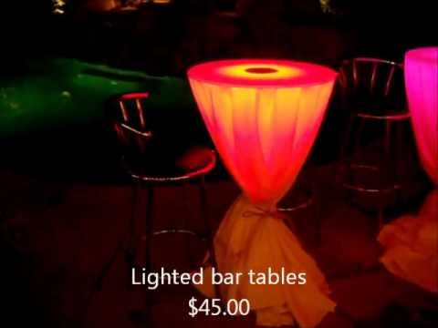 Fantastic light up cocktail tables for your next party!
