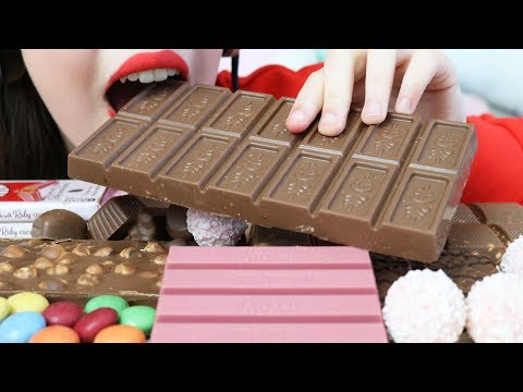 ASMR BEST CHOCOLATE BAR Eating (CRUNCHY & CHEWY Eating Sounds) No Talking