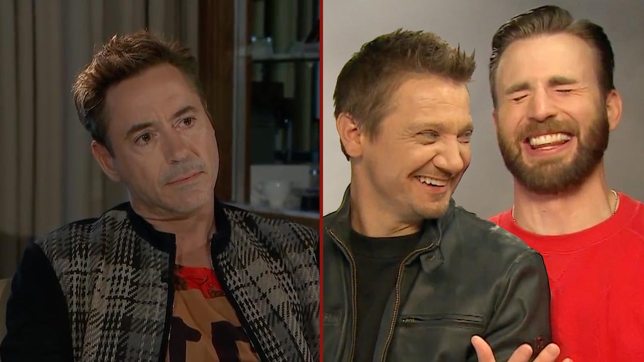Robert Downey Jr Reacts To Jeremy Renner And Chris Evans