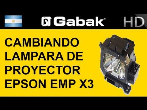 X3 by Epson EMP un Cambiando proyector la lampara de f76gyb