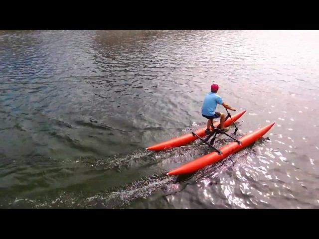 Test du BikeBoat (waterbike, vélo sur l'eau)