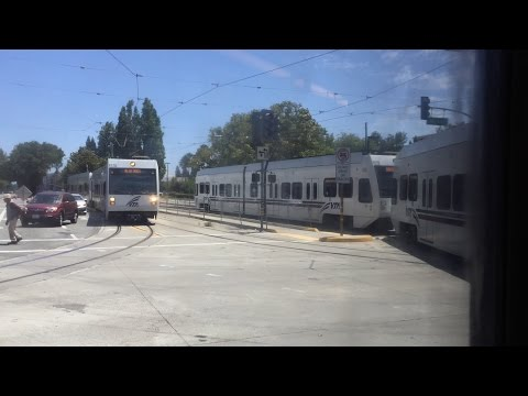 Valley Transportation Authority HD 60fps: Riding VTA Light Rail (Great Mall-Convention Center)