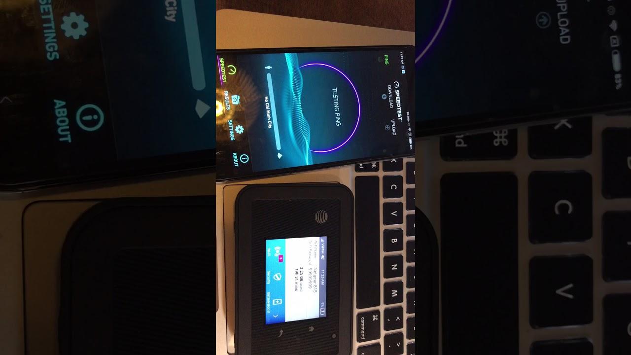 Speedtest Netgear 815 with 4G Viettel