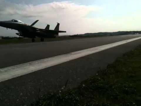 F-15s landing at MCAS Futenma