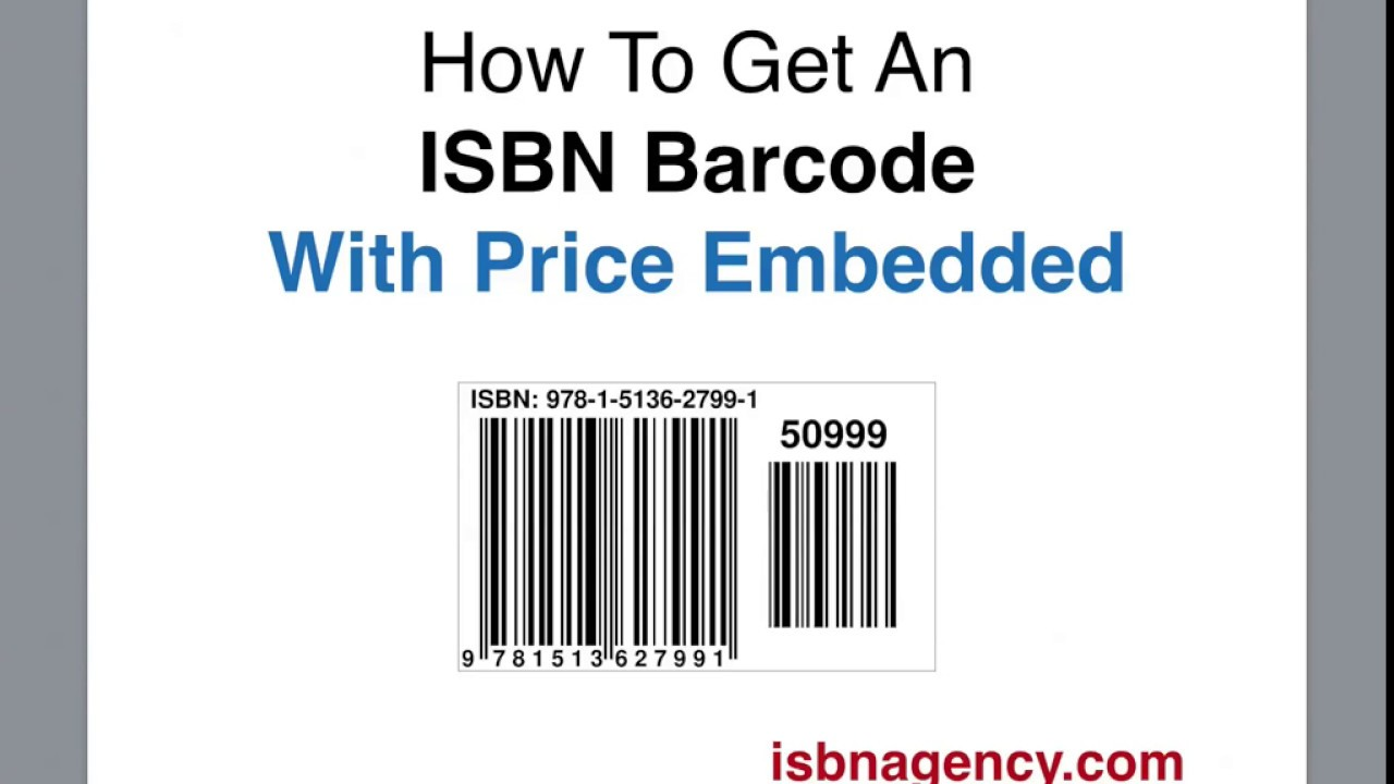 How to get an ISBN Barcode with price - Quick and Easy ...