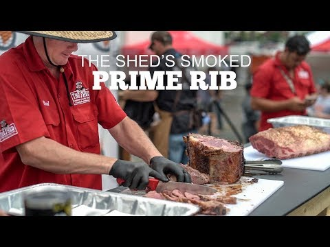 Smoked Prime Rib With The Shed