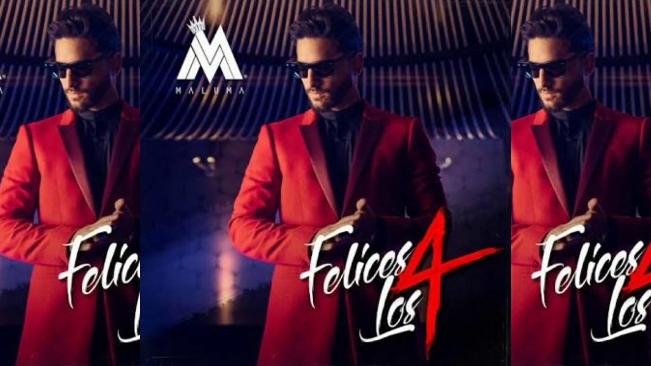 Karaoke Felices los 4 - Video con letras - Maluma