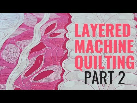 How to Reverse Applique with Machine Quilting: Free-motion Challenge Quilting Along Week 2