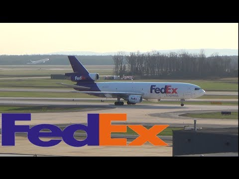 FEDEX DC10-10F taxi to parking at Washington Dulles