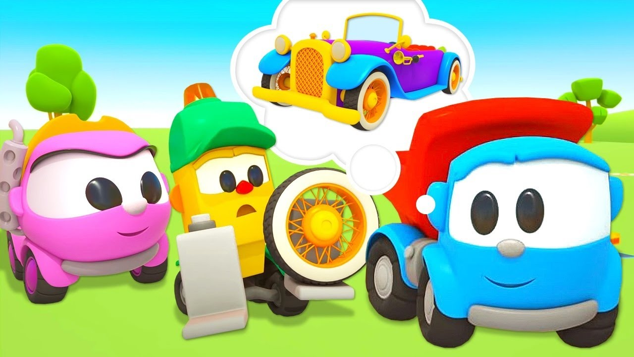 Car cartoons in English & cars for kids - Leo the truck and street vehicles.