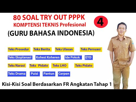 80 SOAL Try Out PPPK GURU BAHASA INDONESIA SMP-SMA SESUAI FR  TAHAP 1 2021 Part 4