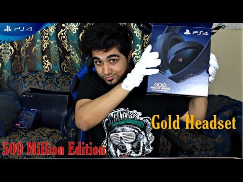 ps4-gold-wireless-headset-500-million-limited-edition-unboxing-&-review