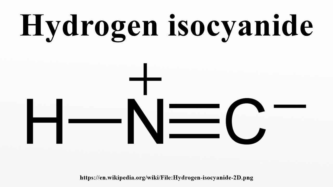 Hydrogen isocyanide - YouTube H2 Lewis Dot Structure