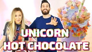 unicorn hot chocolate w laurdiy
