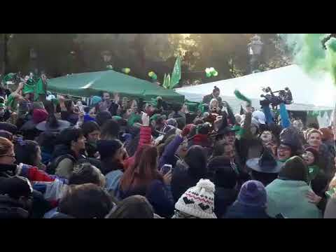 Media sanción ley de aborto legal- Festejos- Mendoza