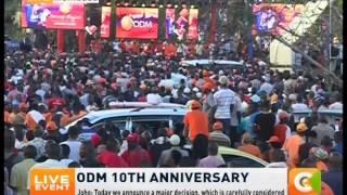 raila odinga s speech on odm 10th anniversary