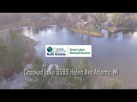 Crooked Lake Atlanta, MI Waterfront Home For Sale