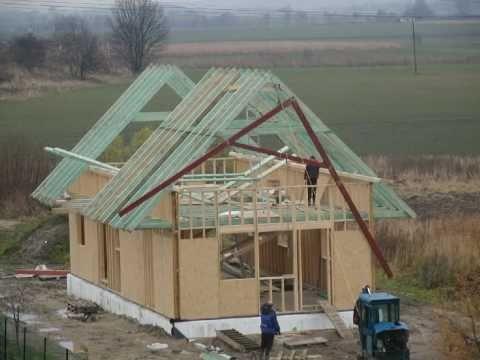 Budowa Domu -część 2: Stan Surowy Otwarty. Film Poklatkowy.