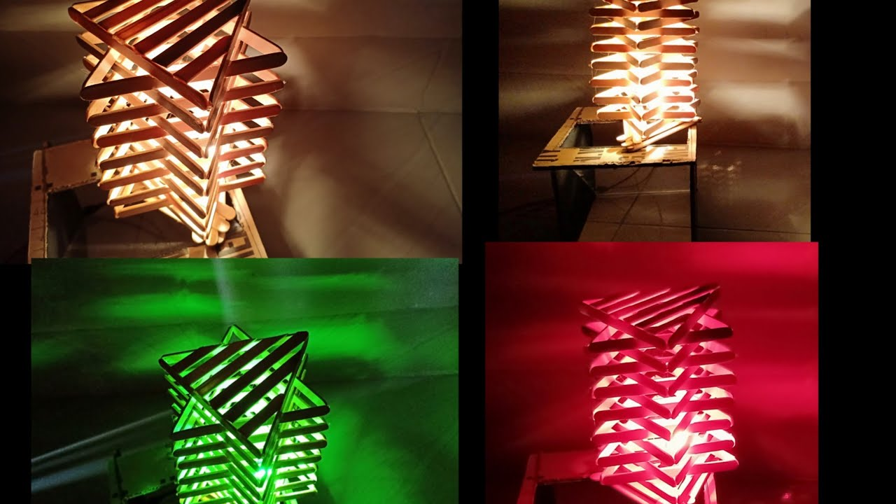 Lampu Hias Yang Indah Dari Stik Es Krim Diy Lampu Es Krim Youtube Kerajinan stik es krim lampu