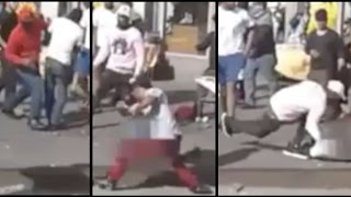 Angry Blacks Who Hate Success ASSAULT African Street Vendor in NYC