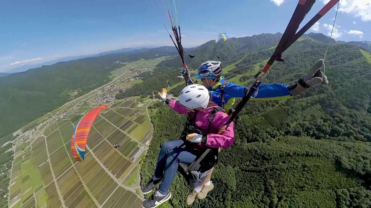 Chuyến bay song song dù lượn @ Hakuba Village Khu nghỉ dưỡng trượt tuyết Goryu