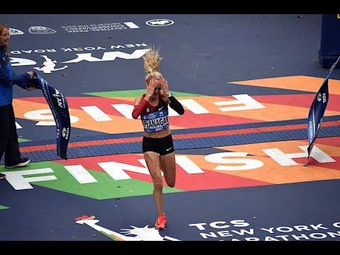 Shalane Flanagan tears up describing emotions of winning the 2017 NYC Marathon