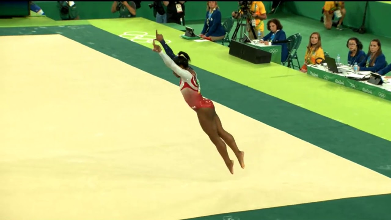 Simone Biles (USA) Floor Team Finals 2016 Rio Olympic Games
