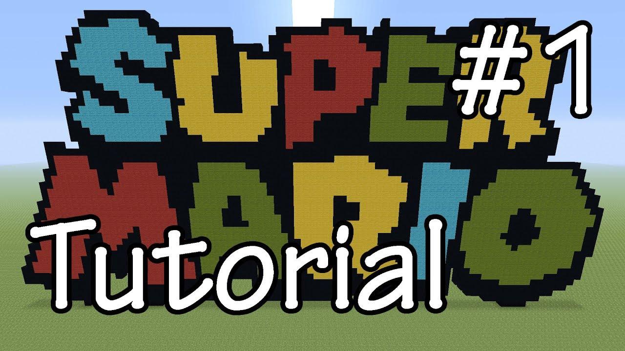 Pixel Art Super Mario Logo Tutorial 1 Pixelarttutorials Youtube