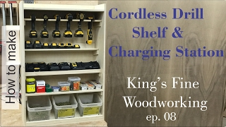 08 How to Build a Cordless Drill Shelf and Charging Station to hang on french cleats