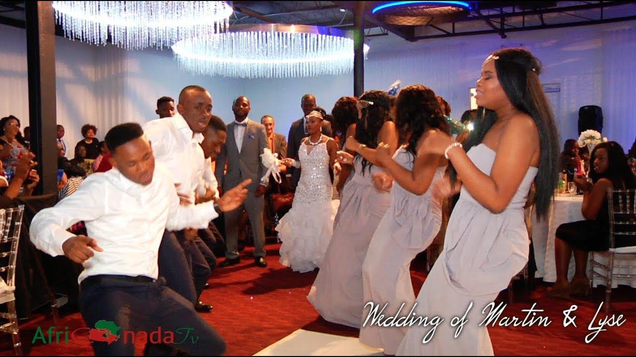 Entrance Dance At Lyse Martin Saleh African Wedding In Canada Youtube