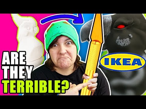 garbage!-testing-ikea-art-crafts-supplies-to-make-a-basic-sculpture-transformation