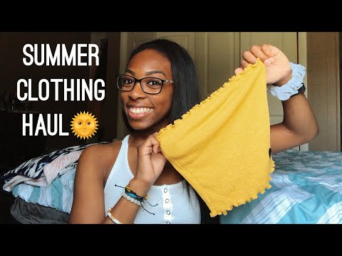 SUMMER CLOTHING HAUL 2018 || TILLYS, PACSUN, AMERICAN EAGLE, FOREVER 21