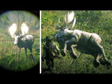 صيد الغزال الأسطوري العملاق في لعبة ريد ديد ريدمبشن 2 | RDR2 Legendary Moose Hunt