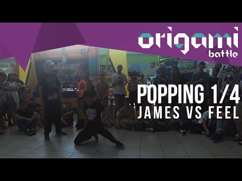 Papercraft POPPING 1/4 | JAMES VS FEEL | ORIGAMI BATTLE