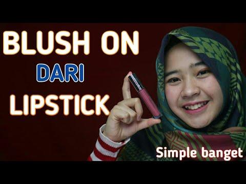 cara-menggunakan-blush-on-dengan-lipstik---diy-blush-on-with-lipstick