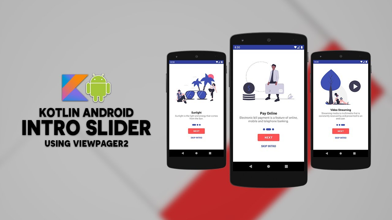 Kotlin Android Intro Slider Using ViewPager2