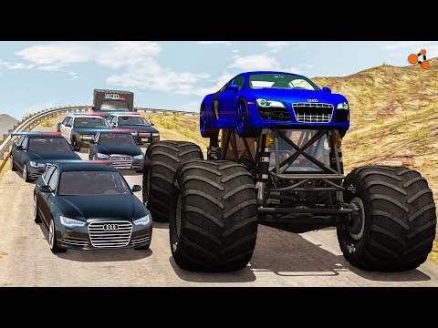 Beamng drive - Police Chases vs Sports Cars crashes #4