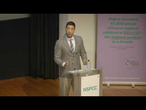 David Schwimmer Speaks At The Nspcc How Safe Are Our Children Conference