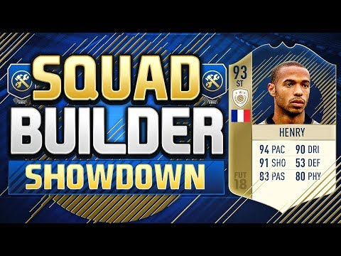 FIFA 18 SQUAD BUILDER SHOWDOWN!! PRIME ICON THIERRY HENRY!!!