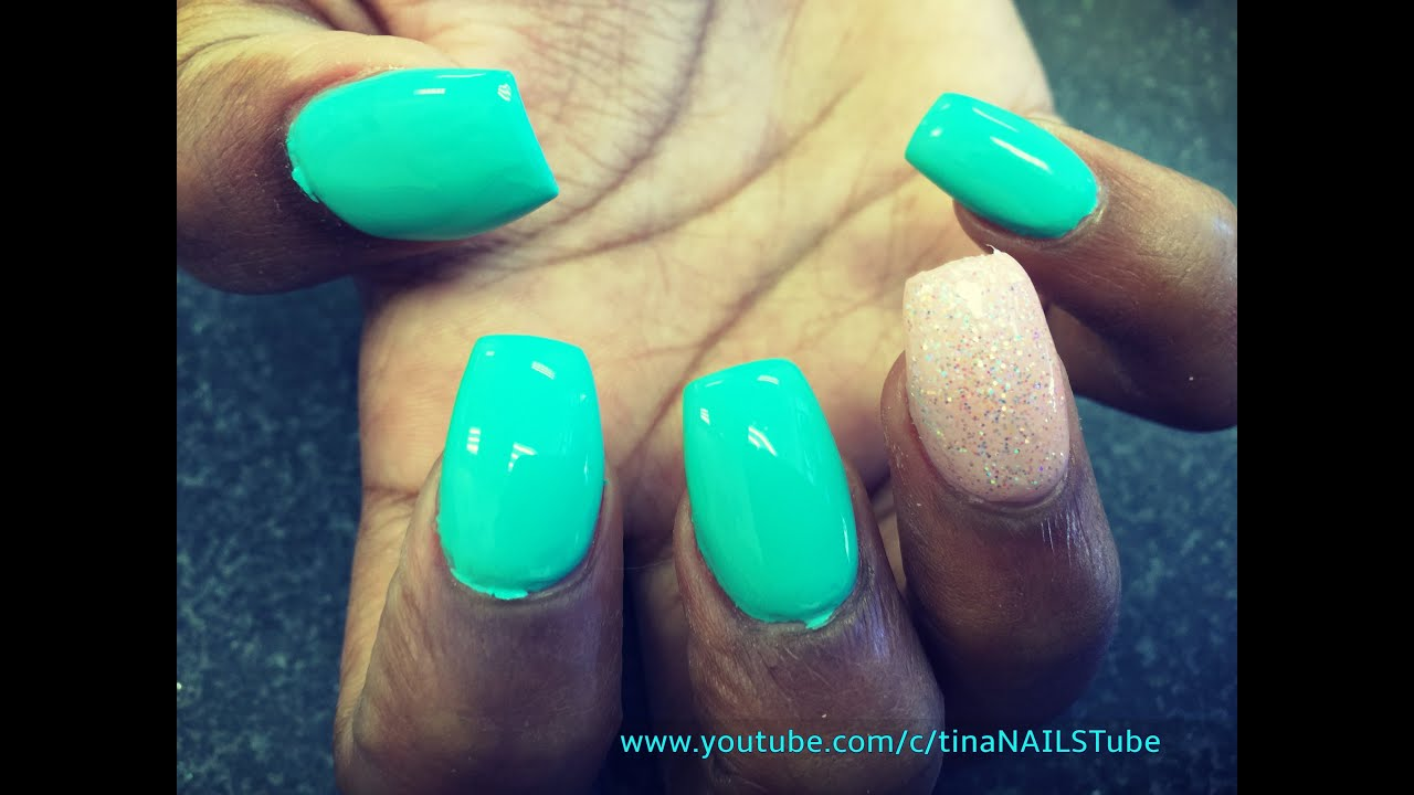 COFFIN SHAPED NAILS TUTORIAL PART 1 - YouTube