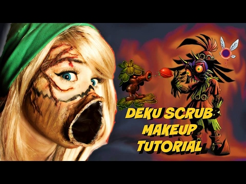 Deku Scrub Cosplay Makeup Tutorial Legend Of Zelda Youtube
